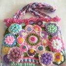 Free Form Art Pouch... 3D Irish Crochet Bag with flowers