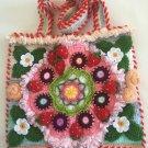 Free Form Art Pouch... 3D Irish Crochet Strawberry Bag