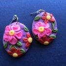 Violet polymer clay earrings