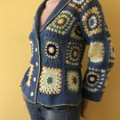 Granny square crochet jacket