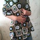 Granny Square Crochet Scarf...Wrap...Shawl