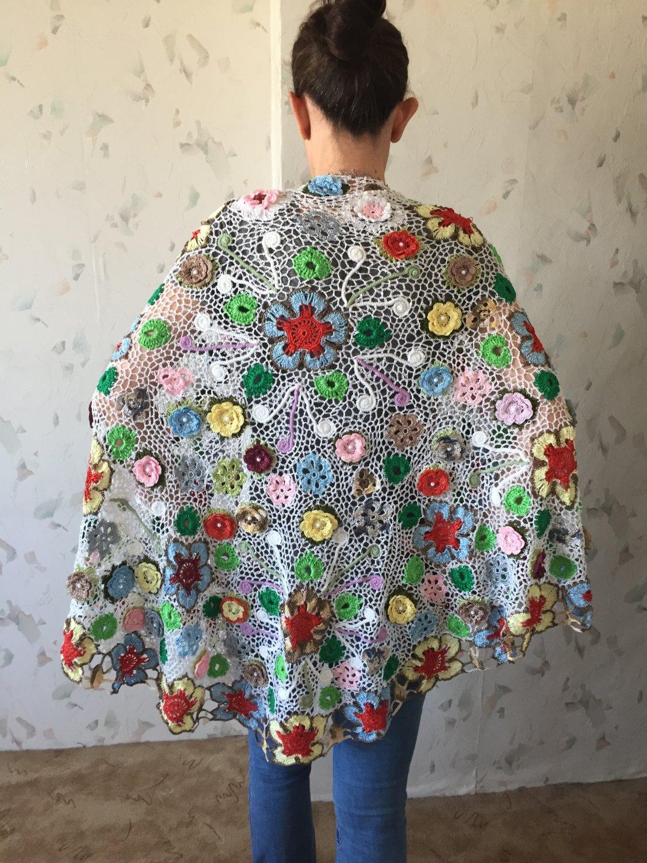 Irish crochet lace wrap... shawl