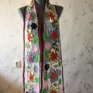 Irish crochet lace scarf