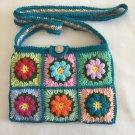 Crochet Granny Square cross body bag