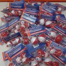"LOT OF 50 PACKAGES 1-3/4"" & 1-1/4"" FISHING BOBBERS SNAP ON - ACADEMY TACKLE"