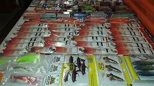 lot of 100+ fishing tackle hooks & spoon & line & fly & Swivels & VMC & Rapala