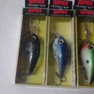 LOT OF (3) RAPALA 3 COLORES EACH CRANKIN RAP IS DEIGNED TO QUICKLY DIVE TO PRESE