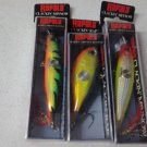 lot of 3 (2)new Rapala CNM-9 Clackin Minnow (1)CNR-8 Hot Steel Clackin' Rap,