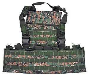 MOLLE Web Tactical Vest - Digital Woodland Camo