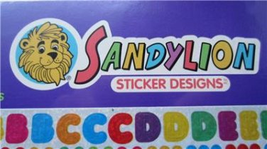 Stickers Alpha Letters Numbers School Items Sandylion New Sealed 1 Sheet of 75