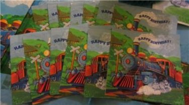 Train Theme Happy Birthday Party Decorations