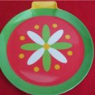 "Christmas Holiday Plastic Plates Dishes Bulbs Set of 4 Melamine Ware 7 1/2"""