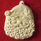 """Christmas Holiday Craft Plaster Santa Face Tree Ornament To Paint 4 1/2"""" x 3"""""""