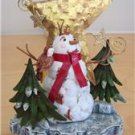 "Christmas Holiday Stocking Holder Hanger Woodland Snowman 10"" Tall NIB"