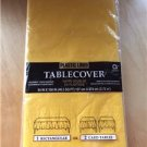 "Plastic Lined Paper Table Cover Tablecloth Yellow Party Wedding 54"" x 108"" New"