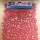 Evri Sink Mat Flower Design Pink 12x10 Size New Anti Slip Cushion Custom Fit