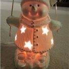 "Snowman on Skies Night Light 11"" Tall International Bazaar in Box with Bulb"