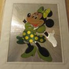 """Minnie Mouse Green Outfit Walt Disney Shiny Picture in Frame Sealed New 12""""x10"""""""