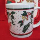 Christmas Holiday Season Mug Cup Christmas Stockings with Candy Canes 4 ""