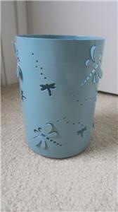Candle Holder Medium Blue Dragon Fly Cutouts