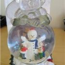 Snowman Shaped Musical Water Globe international Bazaar NIB Frosty The Snowman