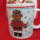 Christmas Holiday Mug Cup Gibson Housewares Teddy Bear from a Marching Band