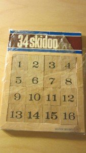 1971 Reiss Games 34 Skidoo Game Vintage Brainteaser Magic Square Puzzle