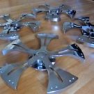 Solid Chrome Wheel Spinners Rims Set of 4 Car Auto
