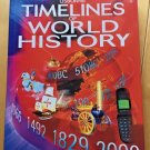 Timelines of World History by Jane Chisholm Hardcover Dust Jacket