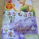Valentine Disney Tinkerbell and Fairies 34 Valentines  35 Glitter Tattoos New