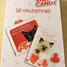 20 Valentines Hale Cats and Dogs Pets  20 Seals 20 Envelopes 20 Candy New