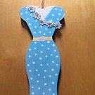 Lady JayneLTD Paper Notepad Stepping Out For Tea Blue Dress on Hanger 75 Sheets