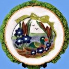 Duck Pond Scene 3D Punch Embroidery Hoop Handmade Original Wall Decoration New
