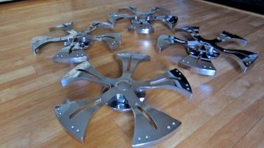 """Solid Chrome Wheel Spinner Rims 18"""" set of 4 Car Auto Spinners"""
