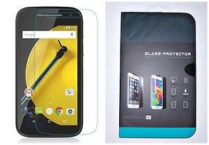 Transparent Tempered Glass Screen Protector Moto E LTE 2015 2nd Generation