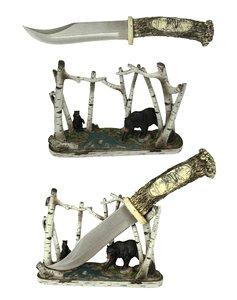 Bear Wildlife Hunting Knife with Display