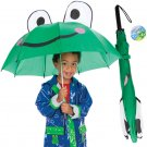 Kids Frog Umbrella for Children 28 inch Rain Gear