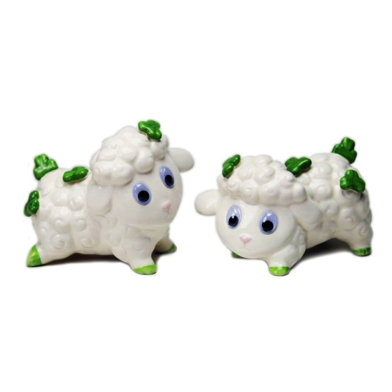 Shamrock Sheep Salt & Pepper Shakers