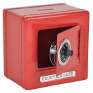 "Red 6"" Metal Frontier Combination Safe Bank with Coin Slot"