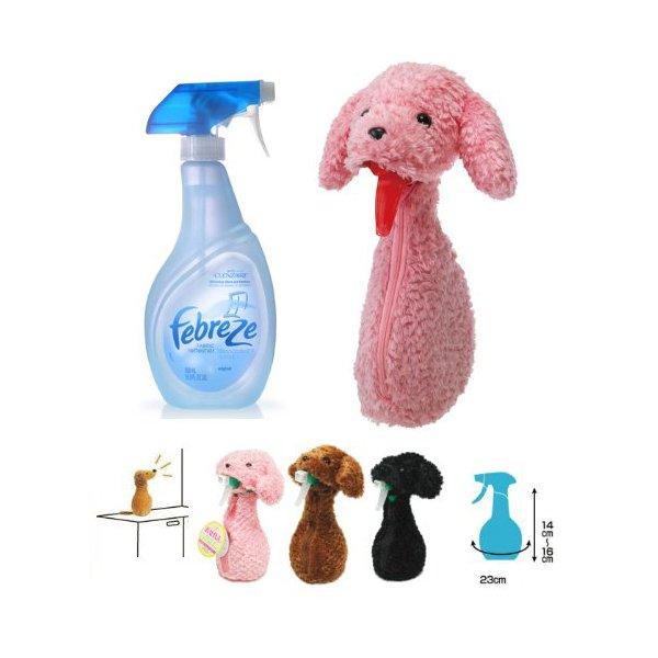 Pink Spray Bottle Cover Poodle Dog