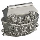 Noah's Ark Pewter Engravable Safe Piggy Bank with Coin Slot