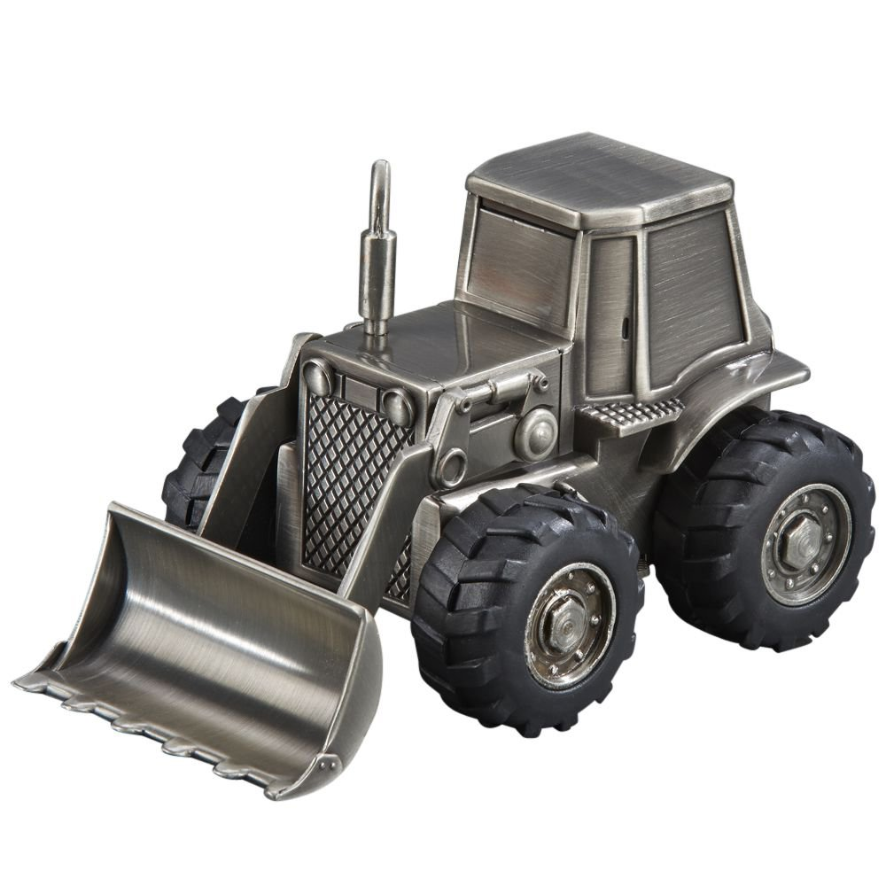 Tractor Front Loader Backkoe Coin Piggy Bank