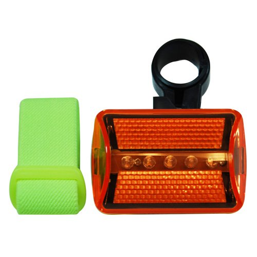 5 LED Yellow 2500MCD Safety Flasher with Bicycle Attachment