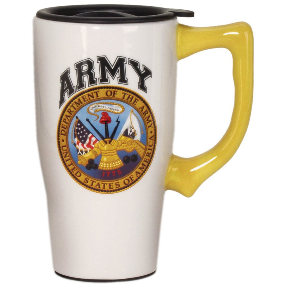 Army Travel Mug, White