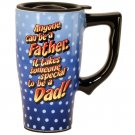 Anyone Can be a Father Travel Mug, Blue
