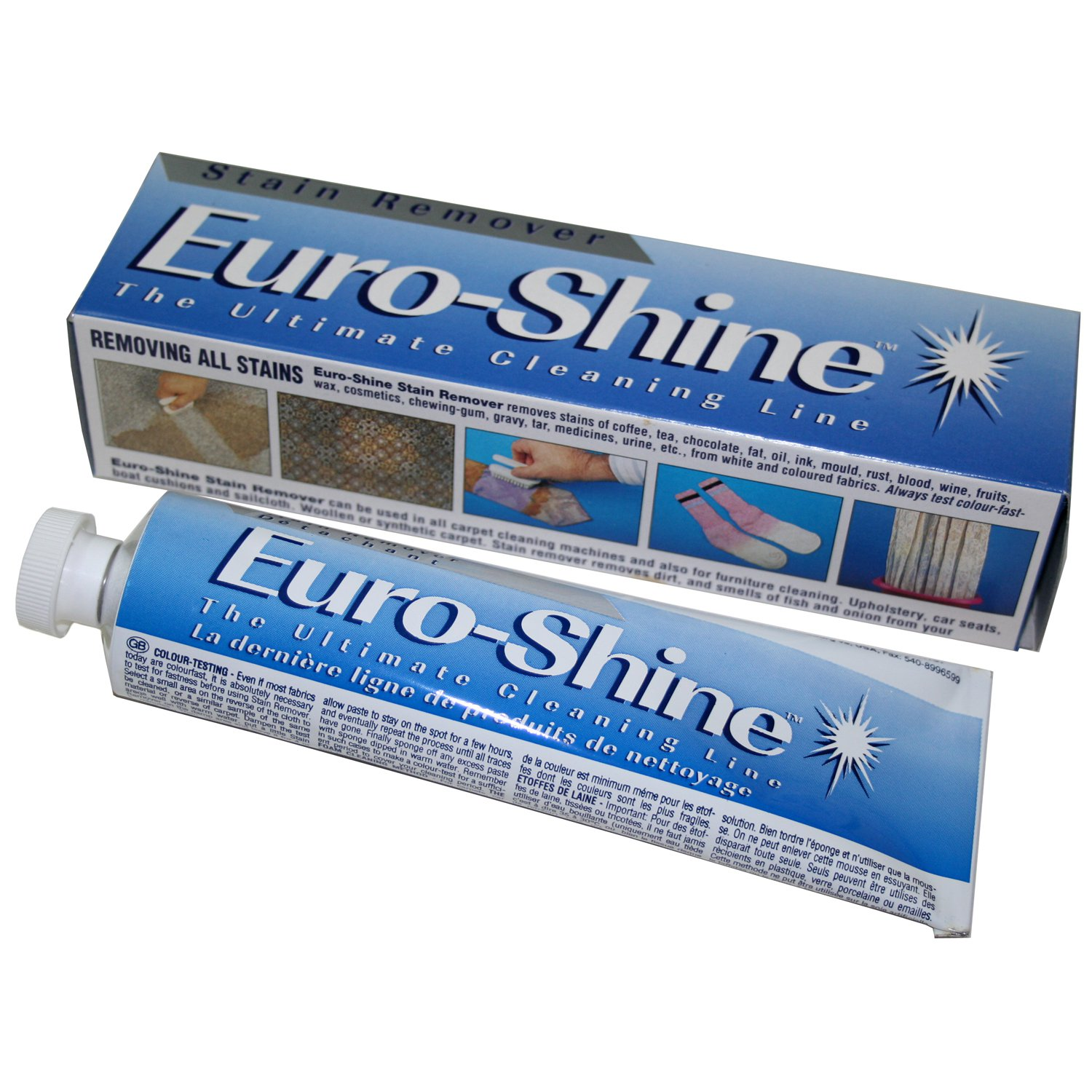 Euroshine Stain Remover From White And Colored Fabrics For