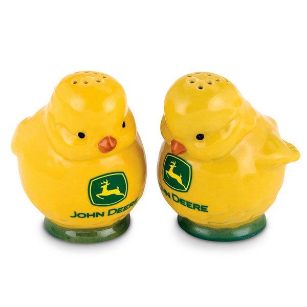 John Deere Stoneware Chicks Salt and Pepper Shaker Set Official Licensed