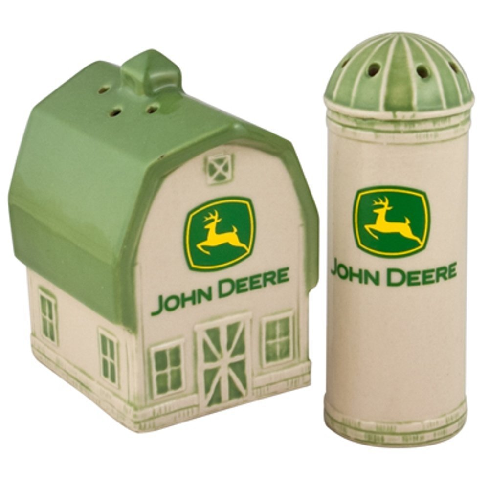Deere Barn and Silo 2000 Logo Salt and Pepper Shaker Set