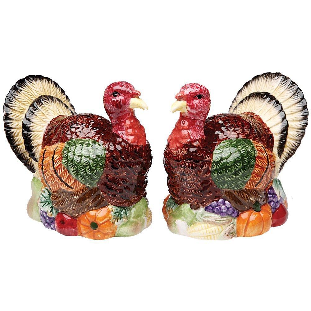 Handcrafted Turkey S/P Salt & Pepper Shakers Porcelain Figurine