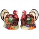 Handcrafted Turkey S/P Salt & Pepper Shakers Porcelain Figurine